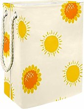 Anmarco Plump Yellow Flowers Collapsible Laundry