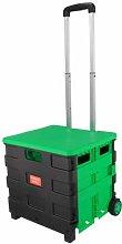 ANMAS Home Foldable Shopping Cart Trolley Portable