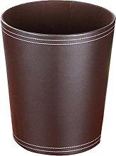 ANNA SHOP Classic Leather Waste Bin, Creative
