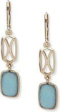 Anne Klein Gold Colour Blue Drop Earrings
