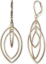 Anne Klein Gold Colour Layered Drop Earrings