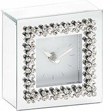Annibells Mirrored Glass Silver Diamond Jewel