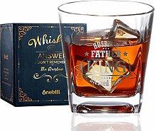 Anniversary Whiskey Glass for Men, Husband Old