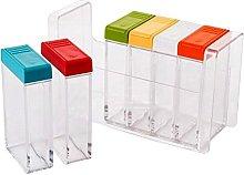 annotebestus 6 Pcs/Set Kitchen Transparent Spice