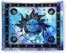 AnnQing Black White Sun Moon Tapestry Wall Hanging