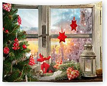 AnnQing Christmas Decoration Tapestry Wall Hanging