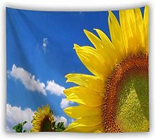 AnnQing Natural Scenery Sunflowers Tapestry Wall