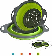 ANPI 2Pcs Collapsible Colander, Foldable Strainer
