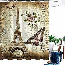 ANPI Waterproof Shower Curtain, Art Digital