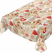 ANRO Christmas Table Cloth Washable Wax Tablecloth
