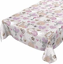 ANRO Oilcloth Tablecloth - Washable Wax Tablecloth