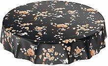 ANRO Sakura Birds Tablecloth Washable Oilcloth