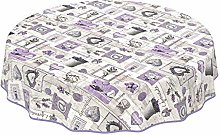 ANRO Table Cloth Table Linen Easy Care Lavender