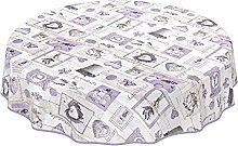 ANRO Washable Tablecloth for Large Tables Oilcloth