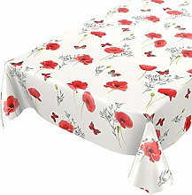 ANRO Washable Tablecloth Oilcloth Tablecloth PVC