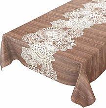 ANRO Waxed Table Cloth Washable Wax Tablecloth
