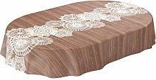 ANRO Waxed Table Cloth Washable Waxed Tablecloth