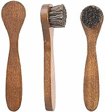 anruo 1pcs wool shoe brush polishing leather