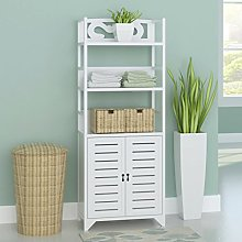 Anself Free Standing Bathroom Cabinet Wooden Tall