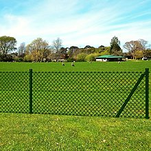 Anself Garden Chain Link Fencing Set with Posts