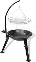 Anself Hang Round BBQ Stand Charcoal Barbecue