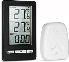 Anself LCD Digital Wireless Thermometer Indoor and