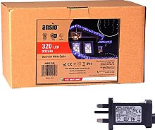 ANSIO Christmas Icicle Lights Outdoor 320 LED