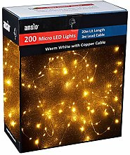 ANSIO Christmas Lights 200 Copper Wire Fairy