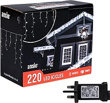 ANSIO® Christmas Lights 220 LED 7.5m/24ft Outdoor