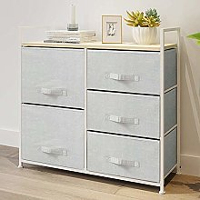 Ansley&HosHo Bedroom Chest of Drawers Grey Fabric