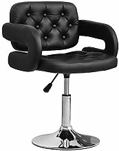 Ansley&HosHo Black Bar Stool with Arms Comfy
