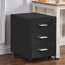 Ansley&HosHo Black Lockable Under Desk Unit