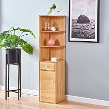 Ansley&HosHo Corner Bookcase Bookshelf Storage