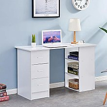 Ansley&HosHo-EU Desk with Drawers Office Computer