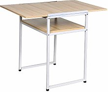 Ansley&HosHo Foldable Dining Kitchen Table for