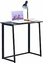 Ansley&HosHo Folding Computer Desk Black for Small