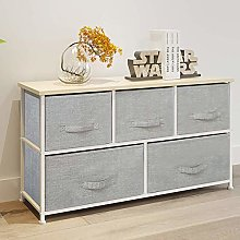 Ansley&HosHo Grey Chest of Drawers for Bedroom