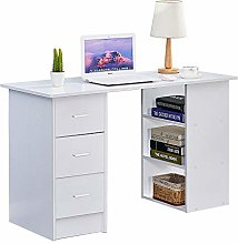 Ansley&HosHo I Shape Computer Desk Table with 3