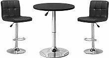 Ansley&HosHo Kitchen Bar Table Set Black Bar Table