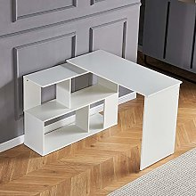 Ansley&HosHo L-Shaped Computer Desk Gaming Table