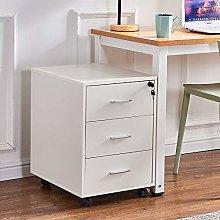 Ansley&HosHo Office White Unit Storage Cabinet 3