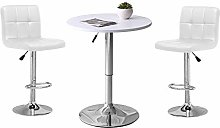 Ansley&HosHo Round Bar Table with 2 Stools for