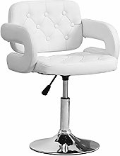 Ansley&HosHo White Bar Stool with Arms Kitchen