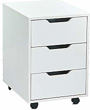 Ansley&HosHo White Small Filing Cabinet Under