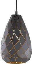Anthracite outside, gold inside Onyx pendant light