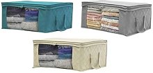 Anti-Dust Wardrobe Clothes Storage Box: Beige/One