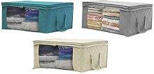 Anti-Dust Wardrobe Clothes Storage Box: Beige/Two