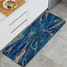 Anti-Fatigue Kitchen Floor Mat,abstract blue