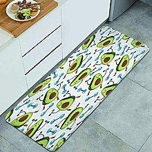 Anti-Fatigue Kitchen Floor Mat,Cute Avocado Funny