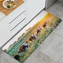 Anti-Fatigue Kitchen Floor Mat,Livestock Cow